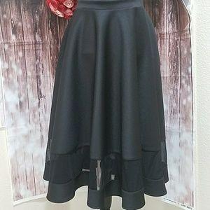 Asos flared black scuba skirt